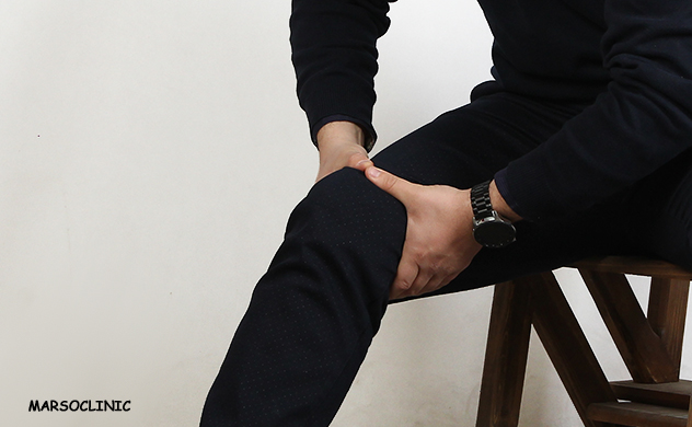 Knee pain when lying down
