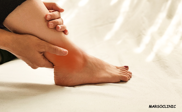 Sprained ankle throbbing at night