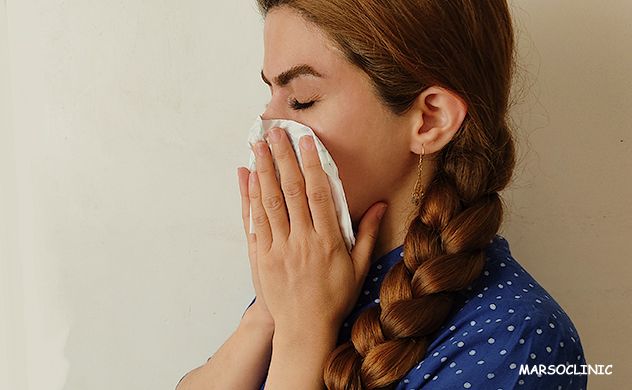 Stuffy nose and sore throat