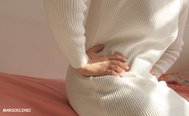 Symptoms of bowel cancer in a woman