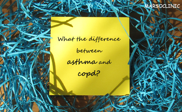 What is the difference between asthma and copd