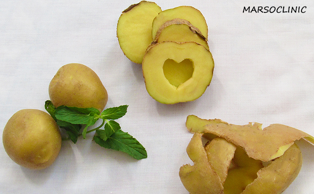 Potato juice for skin